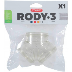 zolux Tube Y Rody gris transparent. taille ø 5 cm . pour rongeur. ZO-206029 Cage