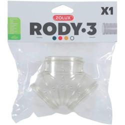 zolux ZO-206029 Tube Y Rody gris transparent. taille ø 5 cm . pour rongeur. Cage
