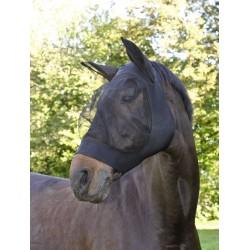 KE-325838 kerbl Mascarilla para moscas FinoStretch Black. tamaño completo cuidado equino