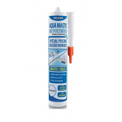 Générique Mastics Colles MS Polymère transparent, aquamestic spécial piscine et milieux humides colle et autre