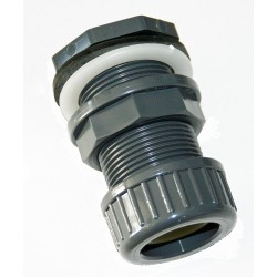 ø 32 mm PVC wall feed-through + tightening nut PVC wall feed-through PVC LANDE VAN IN-STLIE32E