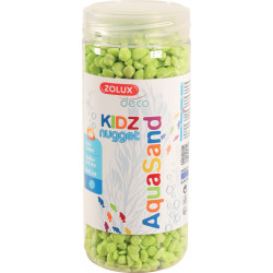 zolux ZO-346235 Gravel for aquariums, apple green, 500 ml. Soils, substrates, substrates