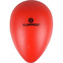 Flamingo Oeuf OVO rouge en plastique. ø 13 cm x 18.5 cm de hauteur. Jouet pour chien FL-519704 Jouet