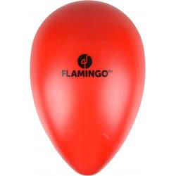 Flamingo Oeuf OVO rouge en plastique. ø 16.5 cm x 25 cm de hauteur. Jouet pour chien FL-519705 Jouet