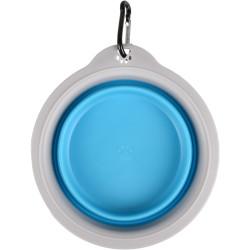FL-520310 Flamingo Bubo con un tazón de 375 ml. para perros. Color azul/gris. Tazón, tazón de viaje