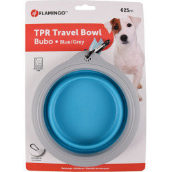 FL-520311 Flamingo Bubo con un bol de 625 ml. para perros. Color azul/gris. Tazón, tazón de viaje
