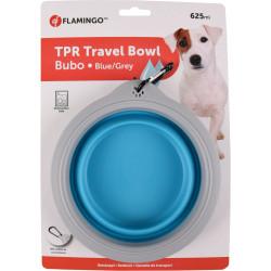 Flamingo BUBO Tragschale 625 ml. für Hunde. Farbe blau/grau. FL-520311 Schüssel, Reiseschüssel