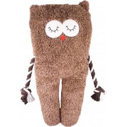 Flamingo Pet Products Brown BONNY Owl plush. length 65 cm . toy for dog. Peluche pour chien