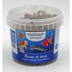 Feed for dehydrated whole large pond fish 90 grams Noveland feed ENT-90-PB