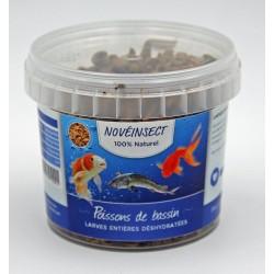 Alimentation pour poissons de bassin larges entières déshydratées 90 gramme Nourriture novealand ENT-90-PB