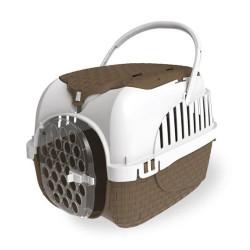 Bama pet Cage de transport Tour 2 maxy Taupe. taille 38 X 58 X 37 cm.pour petit chiens ou chats FL-517591 Cage de transport
