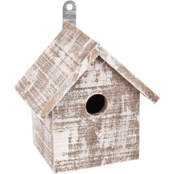 Flamingo FL-110294 Wooden GOOS bird house . 15.5 x 11 x 16 cm. white/brown. Cages, aviaries, nest boxes