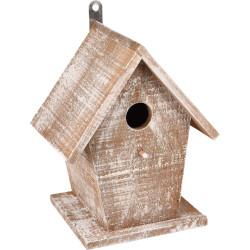 Flamingo FL-110292 Wooden GIO Bird Nesting Box . 19 x 15 x 23 cm. white/brown. Cages, aviaries, nest boxes