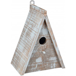 Flamingo FL-110295 Wooden bird house GIES . 16.5 x 11 x 21 cm. blue / brown. Cages, aviaries, nest boxes