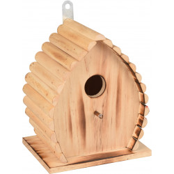 Flamingo FL-110303 GIVAN Bird Nesting Box . 16 x 12.5 x 19.5 cm. in natural flamed wood Cages, aviaries, nest boxes