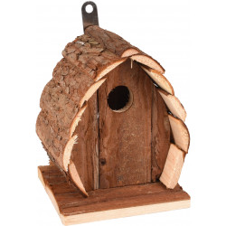 Flamingo FL-110298 GUIDO Bird Nesting Box. 13 X 13 X 17 cm. in natural wood. Cages, aviaries, nest boxes