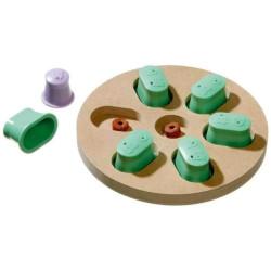 Karlie dOGGY Gehirnzug entdecken. ø 25 x 4,5 cm. Puzzlespiel für Hund FL-1031720 Belohnen Sie Süßigkeiten-Spiele