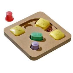 Karlie dOGGY Gehirn Zug Bewegung Puzzle-Spiel. ø 25 x 5 cm. Hund Spiel FL-1031723 Belohnen Sie Süßigkeiten-Spiele