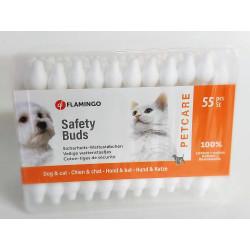 Flamingo Baumwollstäbchen Petcare Sicherheitsbox mit 55 Stück. für Hunde und Katzen. FL-513306 Schönheitsbehandlung