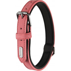 FL-519279 Flamingo Pet Products Neopreno y collar de imitación de cuero tamaño S . DELU, color topo. para el perro. Collar