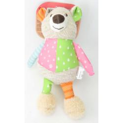 zolux Crazy jojo bear plush toy for dogs Peluche pour chien