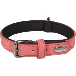 FL-519281 Flamingo Collier taille M. en simili cuir et néoprène . DELU, couleur rouge. pour chien. Collar