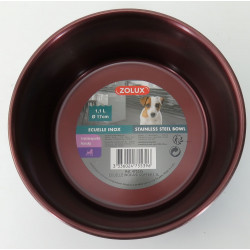 zolux Stainless steel dog bowl 1.1l ø 17 cm colour red burgundy for dog Bowl, bowl, bowl