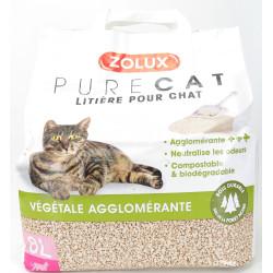 ZO-476316 zolux Litière végétale agglomérante pour chat 8L Camada