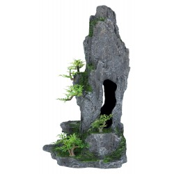 Trixie TR-8858 Cave rock with plant, 37 cm - fish Decoration and other