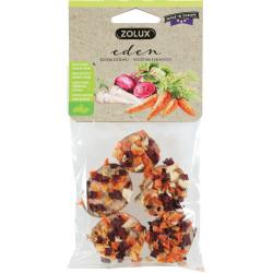 zolux Friandise eden bois et carotte, betterave, panais pour petits mammifères 40g ZO-209507 Snacks et complément