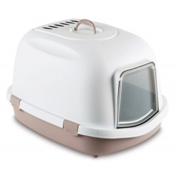 ZO-59006GRO stefanplast Super reina 55 x 71 x 46.5 cm. Un baño para gatos grandes. Gris rosado. Aseo de la casa