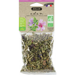 zolux Friandise eden herbes aromatiques feuilles et fleurs mauve 25g ZO-209502 Snacks et complément