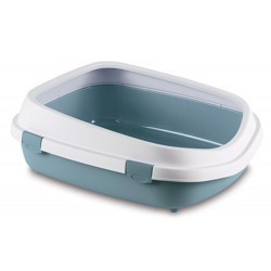 ZO-590108BAC stefanplast Gran caja de arena Reina. 55 x 71 x 24,5 cm. para los grandes gatos. Azul acero. Cajas de arena