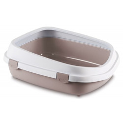 stefanplast ZO-590108GRO Large Queen litter box. 55 x 71 x 24.5 cm. for large cats . pinkish grey. Litter boxes