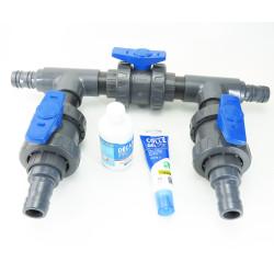 Jardiboutique Kit by pass en ø 38 mm - colle et décapant en plus pour piscine. KITBYPASS-001 Zu versiegelnde Teile