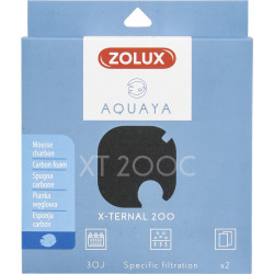 zolux ZO-330243 Filter for x-ternal 200 pump, filter XT 200 C foam carbon x2. for aquarium. Filter media, accessories