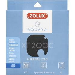 zolux Filter für Pumpe x-ternal 200, Filter XT 200 C Schaumkohle x2. für Aquarium. ZO-330243 Filtermedien, Zubehör
