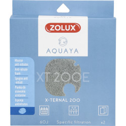 zolux ZO-330244 Filter for x-ternal 200 pump, filter XT 200 E anti-nitrate foam x2. for aquarium. Filter media, accessories