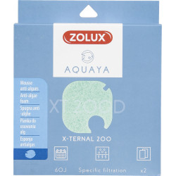 zolux ZO-330245 Filter for x-ternal 200 pump, filter XT 200 D anti-algae foam x2. for aquarium. Filter media, accessories