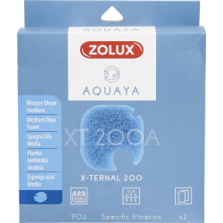 zolux ZO-330242 Filter for x-ternal 200 pump, filter XT 200 A blue foam medium x2. for aquarium. Filter media, accessories