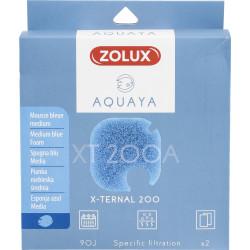 zolux Filter für Pumpe x-ternal 200, Filter XT 200 A blaues Schaumstoffmedium x2. für Aquarium. ZO-330242 Filtermedien, Zubehör