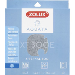 zolux ZO-330249 Filter for pump x-ternal 300, filter XT 300 E anti-nitrate foam x 2. for aquarium. Filter media, accessories