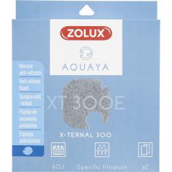 zolux Filter für Pumpe x-ternal 300, Filter XT 300 E Anti-Nitratschaum x 2. für Aquarium. ZO-330249 Filtermedien, Zubehör
