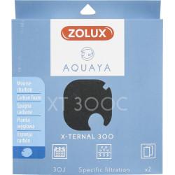 ZO-330248 zolux Filtro para la bomba x-ternal 300, filtro XT 300 C de espuma de carbón x 2. para el acuario. Medios filtrante...