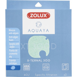 zolux ZO-330250 Filter for pump x-ternal 300, filter XT 300 D anti-algae foam x 2. for aquarium. Filter media, accessories