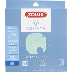 ZO-330250 zolux Filtro para la bomba x-ternal 300, filtro XT 300 D de espuma antialgas x 2. para el acuario. Medios filtrante...