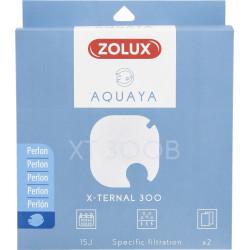 zolux Filter für Pumpe x-ternal 300, Filter XT 300 B Perlon x 2. für Aquarium. ZO-330246 Filtermedien, Zubehör
