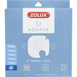 zolux Filtre pour pompe x-ternal 300, filtre XT 300 B perlon x 2. pour aquarium. ZO-330246 Masses filtrantes, accessoires