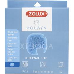 zolux Filter für Pumpe x-ternal 300, Filter XT 300 A blaues Schaumstoffmedium x2. für Aquarium. ZO-330247 Filtermedien, Zubehör