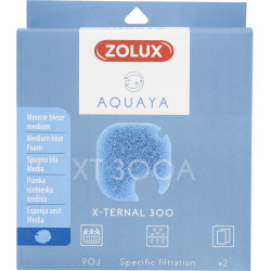 ZO-330247 zolux Filtro para la bomba x-ternal 300, filtro XT 300 A medio de espuma azul x2. para el acuario. Medios filtrante...